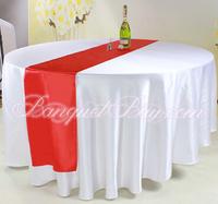Red Color Table Cloth Runner \ Satin Table Runner Door to Door