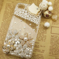 Luxury gem for iphone 4s ,rhinestone case for iphone 4,kitty case for iphone 4, Bling kitty case for iphone 4s