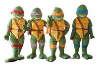 Fancytrader Full Set 4 pcs! Real Pictures Deluxe EVA Head Teenage Mutant Ninja Turtles Mascot Costume Free Shipping! FT30579