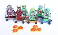 Free Shipping! Decool Teenage Mutant Ninja Turtles, 6 Style/Set, With Skateboard. Children Building Blocks Toys. No original box