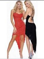 New Fishtail Latin dance fashion show clothing women costume Backless Translucent Yarn skirt Sexy Club wear  Evening dress