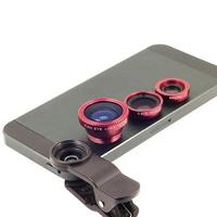 VEENTOOK OSINO 3 in 1 Clip-On Fish Eye Lens+Wide Angle+Macro Lens For Samsung  S4