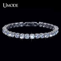 UMODE Charm AAA+ Round 0.5 carat Swiss Cubic Zirconia Diamond Tennis Bracelet for woman UB0021