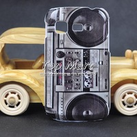 Vintage series camera CD tape game tower skeleton special hard case for Samsung Galaxy Pocket S5300 plastic back cover,1pcs