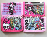 Free shipping 12pcs Monster High  children's coin Purse wallet wholesale