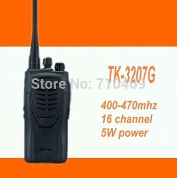 DHL Freeshipping +TK-3207G TK3207G commercial transceiver radio uhf radio transmitter+headset for Kenwood  walkie talkie 5W 10km