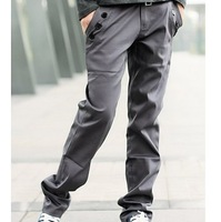 2014 New Spring Full Length Men Pants/Brand Plus Size Straight Pants For Men/Casual Men Clothing