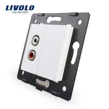 , Livolo White Plastic Materials, 45mm*22mm, EU Standard, Function Key For Audio ...