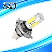 S&D Brand 5pcs H4 High Power 7.5W 5 LED Pure White Fog Head Tail Driving Car Light Lamp Bulb parking