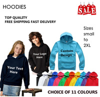 New arrival ! Childrens Personalised Hoodie 5-13 yrs Kids Custom Hooded Sweatshirt Printed, DHL Free Shipping