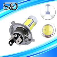 S&D Brand H4 High Power 7.5W 5 LED Pure White Fog Head Tail Driving Car Light Lamp Bulb Type:H4 parking