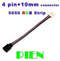 4 pin Female connector cable for 5050 RGB SMD LED Strip 10mm width PCB Wire Accessories Waterproof by Express 100pcs/lot
