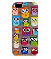 Cute Owl Pattern Hard Case for iPhone 5 Free Shipping