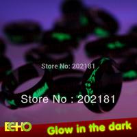 2013 New GLOW IN THE DARK mix size 100pcs/lot hot  luminous ring