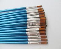 Free shipping 6mm*19cm Nail Art Pen ,acrylic paint brush ,Wood Paint Brush Pen,Tips Pen Set for DIY