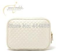 SALES Free shipping elegant Bead light beige diamond lattice toiletry storage bag cosmetic bags HZB027