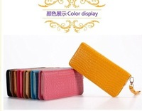 2013 genuine leather multicolor fashionable casual Women wallet a003