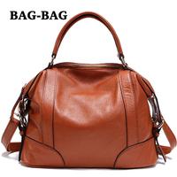 NEW sales Genuine Leather shoulder bag Women Real Cowhide skin handbag tote Fashion Girl Brand Designer B104