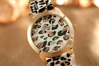 ToMoNo New GENEVA Women watches with leopard band and leopard dial Silicone watch ,Drop Shipping