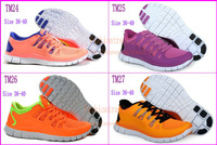 Best price Free shipping newly model 2013 hot sport barefoot running shoes women men Free Run 5 sports shoes 34 colors