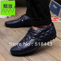 New arrival 2013 fashion car plaid casual shoes male shoes male the trend male fashion leather male skateboarding shoes