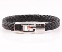 Handmade Braided Woven PU Leather Bracelet Bangle Jewelry For Women Men Free Shipping ZB67