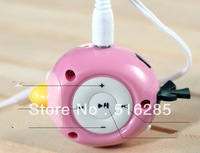Free Shipping Clip Cute Bird Shape Candy Color Mini mp3 player support TF card