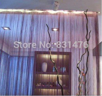Grátis frete Tassel Fringe Hanging cordas Partition divisor de parede porta cortina de janela(China (Mainland))