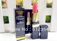 100pc/lot by DHL  Free Shipping New Lady Women Sexy Charming Cosmetic Makeup Moisture Beautiful Lipstick 2colors