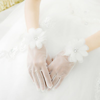 Spring and summer lace wedding gloves evening dress bridal gloves women party prom dress wedding accessories free shipping