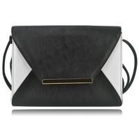 New Arrival 2014 Black and White Envelope Bag Women Fashion Shoulder Clutch Bag Free Shipping HD66788