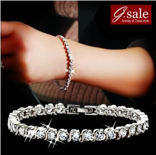 GS brand SL-22 Bracelets for women 2013 AAA zircon crystal infinity arm candy fashion jewelry vintage charm bracelets Bangles(China (Mainland))