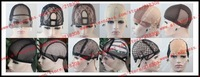Left U-part Style Wig Cap: Brown Color, Medium Size, Hot selling Lace wig inner net for wig making adjustable straps combs hot!