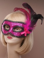 Mask,Free Shipping Sequin and feather detail face masquerade mask