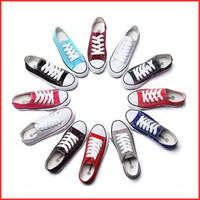 Free Shipping Dropship 15 Colors Classic Canvas Shoes for Women Men Wholesale Flat Low Casual Shoes FREE EXTRA SHOELACES