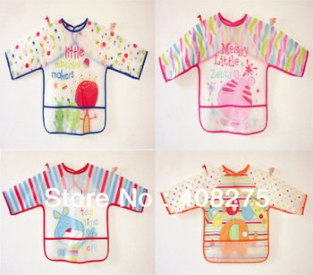 Wholesale 2013 Newest Carters baby PVC bibs for the feeding Plastic rice pocket baby's waterproof disposable Easy to wash