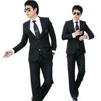 New fashion Men's business suit Set New style slim fit suits one button dress suit for men (Jacket+pants+vest) Asia S-XXL C890