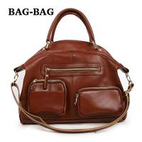 NEW Women TOP GRAIN Genuine Leather Handbag Korean order OEM Real Cowhide skin shoulder bag OL Fashion girl Wholesale B127