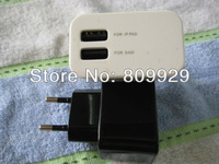 new 2A EU Plug Dual USB Port Power Adapter Wall Charger Case For IPad 2 /3 IPhone 4GS 4G Samsung S3 HTC Free shipping