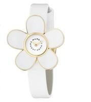 Refinement white Daisy flower leather watch woman fashion watch Valentine's Day gift watch Ladies Chrysanthemum watch