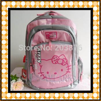 free shipping pink Hello kitty Children backpack school bag Kids Book bag