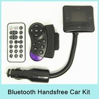 Bluetooth Hands Free Car Kit FM Modulator Transmitter Car MP3 Tune Base FM Support SD / MMC Card / USB Flash Disk Drop Shipping