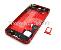 Original replacement for apple iphone 5 5g full housing metal alloy back cover+flex cable+buttons assembly  For iPhone 5 Back