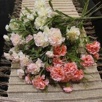 For 5 pcs Plastic Carnation   artificial flowers  bountyless silk wedding decoration flowers flores artificiales