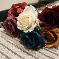 For 5 pcs Artificial flowers moonlight rose artificial flowers home decoration flowers silk flowers flores artificiales