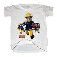 Free shipping /Cartoon characters Fireman Sam Kids 2013 summer / boys and girls / cotton /white Short T-shirt /