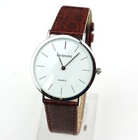 Special authentic BAISHUNS Men's slim fashion quartz watch Gold and silver shell