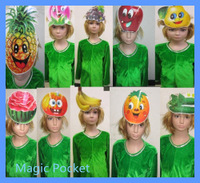2013 Kids  fruit costumes for party (Apple/pumpkin/pineapple/watermelon/orange/pears/bananas/peaches/grapes),free shipping
