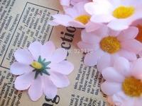 """36 pink sun flower Artificial Silk Flower Heads Craft Wedding 1.5"""" SF117"""