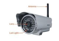 Wholesale Sell 5 pcs five Foscam FI8904W IP Camera WiFi Wireless CCTV Outdoor IR Camera Silver infrared webcam